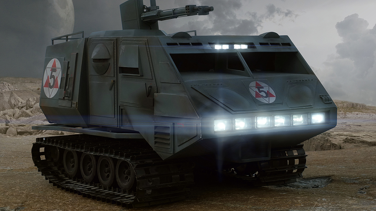 Scale modell galactica landram front