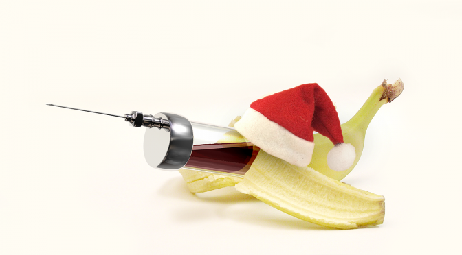 InVitro Banana wishes Merry XMas