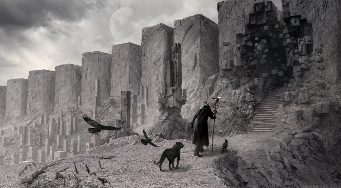 The netherworld - Illustration for the apocalyptic folk band SOLITUDE RAVENCROW